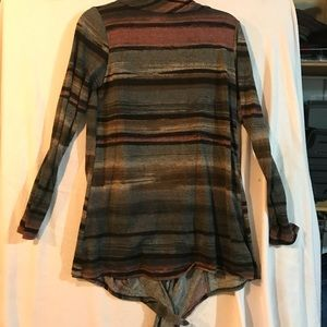Ladies warm long wrap with sleeves